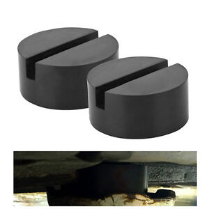 Hot 2x Slotted Jack Rubber Pad Adapter For Pinch Weld Side Jack Pad Universal