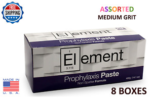 Element Prophy Paste Cups Assorted Medium 200 box Dental W fluoride 8 Boxes