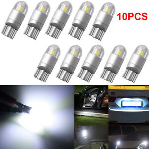 10 Super White T10 3030 2 Smd Led Dome Map License Plate Light Bulb W5w 194 2825