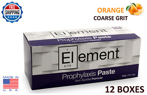 Element Prophy Paste Cups Orange Coarse 200 box Dental W fluoride 12 Boxes