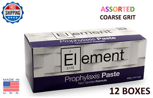 Element Prophy Paste Cups Assorted Coarse 200 box Dental W fluoride 12 Boxes