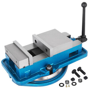6 Milling Machine Lockdown Vise Swivel Base Drilling Precise Scale 160mm Width