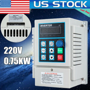220v 0 75kw 1hp Single To Three Phase Variable Frequency Drive Inverter Cnc Vfd