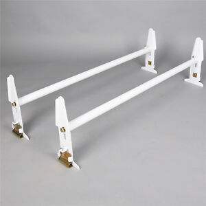 77 Adjustable Van Roof Ladder Rack Cross Bar Luggage Cargo Carrier 500lbs New