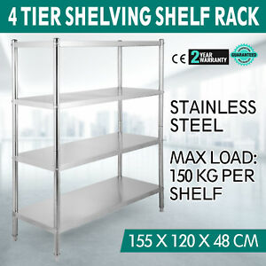 Heavy Duty Shelf Garage Steel Metal Storage 4 Level Adjustable Shelves Rack New