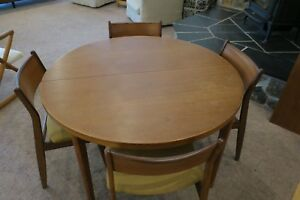 Vejle Stole Mobelfabrik Modern Dining Table And 4 Chairs Mid Century Denmark