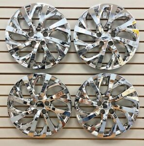New 2017 2018 Toyota Corolla 16 Chrome Hubcap Wheelcover Set