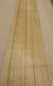 Teak Wood Veneer 6 X 96 Raw No Backing 1 20 Thickness Flexible Flitch Roll