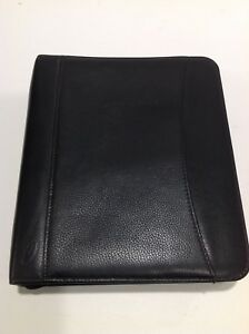 At a glance Classic Size Planner Date Book Black Pebbled Leather 9 X 10 Outer