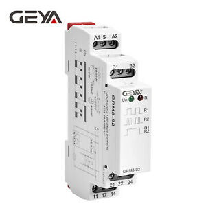Geya Memory Relay Latching Relay Impulse Relay Electronic 16a 12v 240v Din Rail