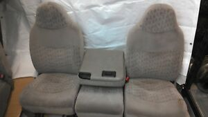 1999 2000 2001 2002 2003 2004 Ford F250 F350 Grey Gray Front Seats Set Jump Seat