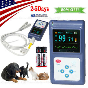 Veterinary Pulse Oximeter Handheld Vet Spo2 Pulse Rate Monitor Free Software usa