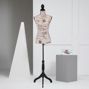 Female Dress Form Mannequin Torso Designer Pattern Display W black Tripod Stand