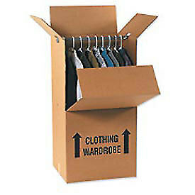 24 x20 x46 Wardrobe Packing Box 275lb Test Doublewall Ect 48 5 Pack Lot Of 5