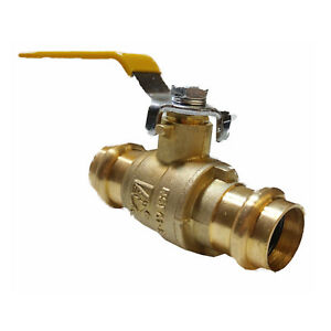 4 Inch Full Port Brass Ball Valve Lead Free Press Ends Upc ul fm