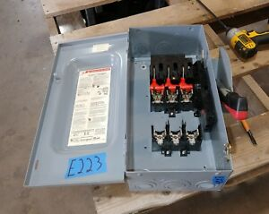 Square D H362 60 Amp 600 Volt Fused Type 1 Disconnect Switch