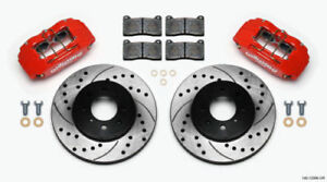 Wilwood 140 12996 dr 2 wheel Disc Brake And Caliper Front Kit Honda Civic 99 00