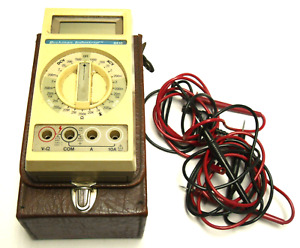 Beckman Industrial 4410 Multimeter W case And Probes Tested