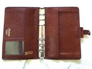 Filofax For Barney s Vintage Brown Leather Personal Organizer Made In England