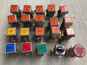 Eao 704 900 2 Pushbutton Switch Actuator 704 950 0 Swiss Made Lot Of 20