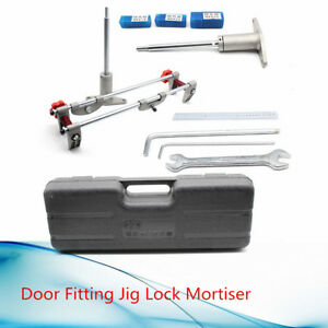 8pcs Mortice Door Fitting Jig Lock Mortiser Dbb Key Jig1 With 3 Cutters