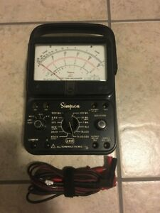 Simpson 260 Series 7 Multimeter Untested Condition Sold As Is