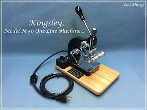 Kingsley Machine Model M 50 One Line Accessories Hot Foil Stamping Machine