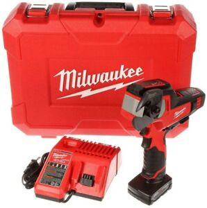 Milwaukee Cable Cutter Kit 12 volt Lithium ion Cordless 3 0ah Battery Charger