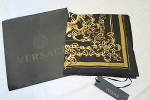 Versace Baroque Print Silk Scarf Scarve For Tribute Medallion Icon Medusa Bag