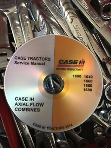 Best Case Ih 1640 1660 1680 Combine Field Tractor Service Repair Manual Cd