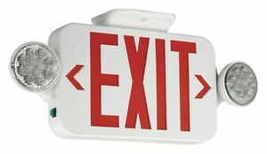 Hubbell Lighting Compass Exit Sign With Emergency Lights Includes Canopy Ccr
