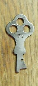 Antique Steamer Trunk Key Flat Key No 72