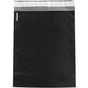 2 5 Mil Colored Poly Mailers 12 x15 1 2 Black 100 Pack Lot Of 1