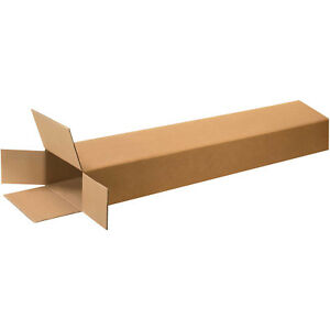 8 x4 x46 Side Loading Boxes 200 Lb Test ect 32 Kraft 15 Pack Lot Of 15