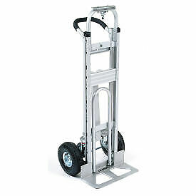 Aluminum 3 in 1 Convertible Hand Truck With Pneumatic Wheels Lot Of 1