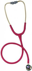 Littmann 3m Classic Ii Infant Stethoscope In Raspberry With Rainbow Chest Piece