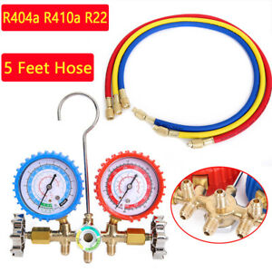 R404a R410a R22 Ac A c Manifold Gauge Set 5ft Colored Hose Air Conditioner Be