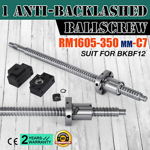 1 Set Anti backlash Ballscrew Rm1605 350mm c7 Professional Durable Br Coupler