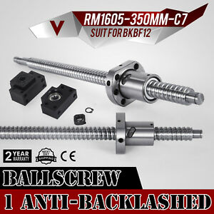 1 Set Anti backlash Ballscrew Rm1605 350mm c7 Sfu1605 Durable Bargain On Sale