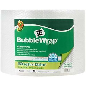 Bubble Wrap Original Protect Carry Shipping Packing 12 In X 150 Ft Single Roll