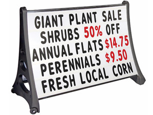 48 X 36 Double Sided Outdoor Tilt And Roll Changeable Letter Board Sidewalk Sign