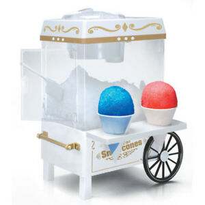 Collection Snow Cone Maker Vintage Portable Countertop Shaved Ice Machine Party