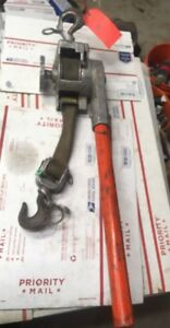 A b Chance Strap Hoist Puller 2000 Come Along Winch 6266u Little Mule 300 344