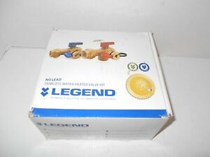 Legend Tankless Water Heater Valve Kit Lead free 3 4 Ips New Other