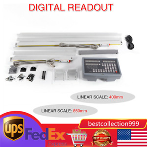 2axis Milling Lathe Machine Digital Readout Dro High Precision Linear Scale New