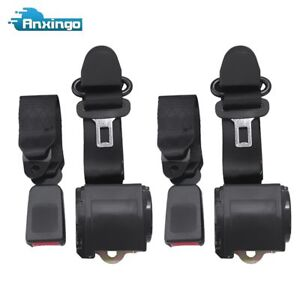 2x Shoulder 3 Point Seat Belts Retractable Front For Jeep Cj Yj Wrangler 82 95