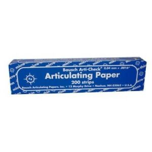 Bausch Arti check Articulating Paper Straight Box With Booklets 200 Strips