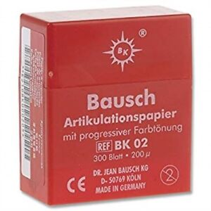 Bausch Bk 02 Articulating Paper Plastic Dispenser Red pack Of 300