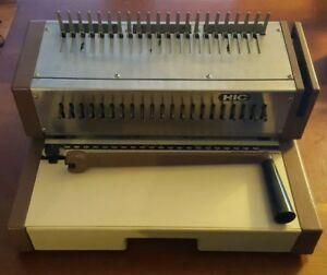 Hic Binding Machine Hpb 210 Manual Gbp Plastic Comb Paper Punch Hop Industries