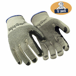Refrigiwear Midweight Double Sided Pvc Dot Grip Knit Work Gloves 12 Pairs